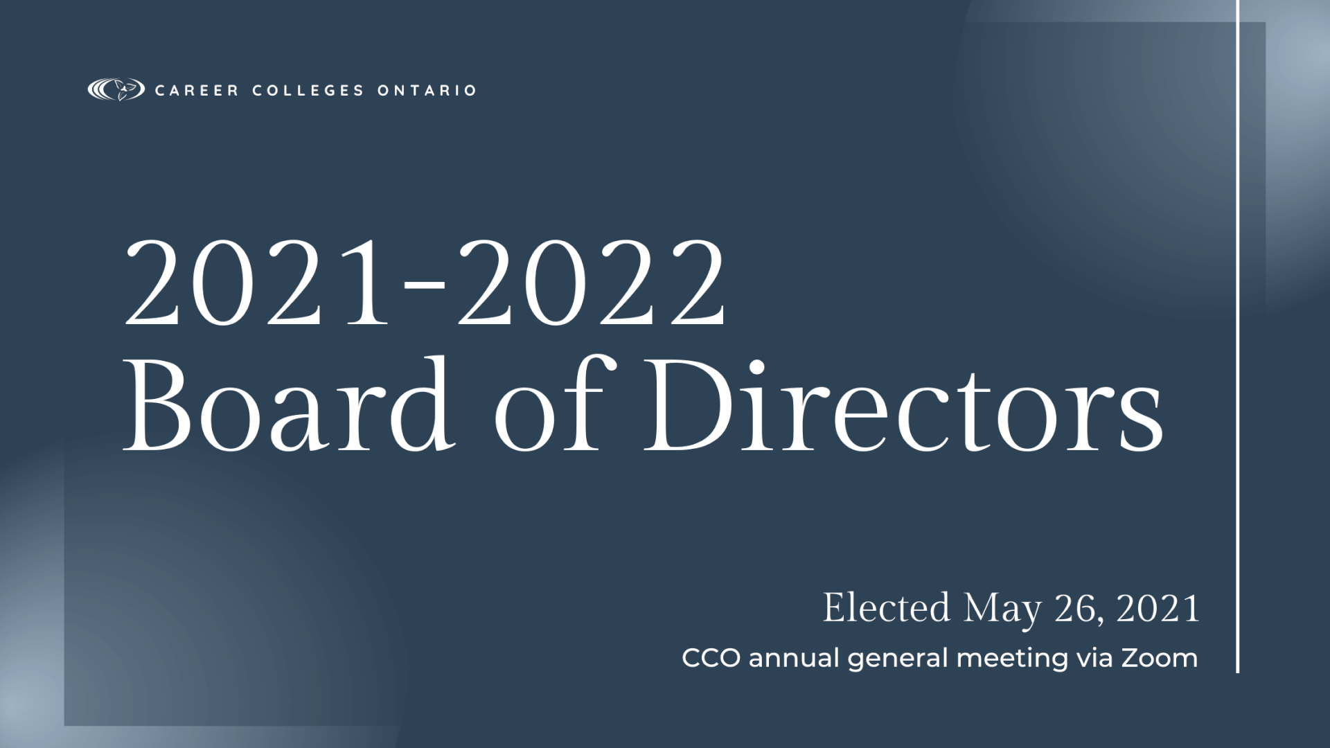 CCO Welcomes its 2021-2022 Board of Directors